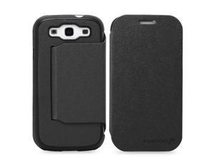 Fosmon Folding stand Leather Case for Samsung Galaxy S III i9300 / ATT SGH-i747 / Verizon SGH-i535 / T-mobile SGH-T999 / ...