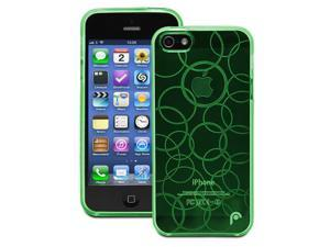 Fosmon DURA Series Multi-Circle Design TPU Case for Apple iPhone 5 / 5S - Clear Green