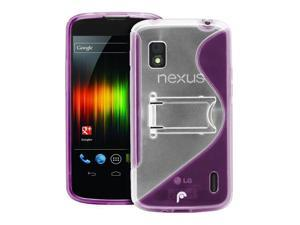 Fosmon HYBO-SK Series Hybrid PC + TPU Case w/ Stand for Google Nexus 4 / LG Nexus 4 - Purple