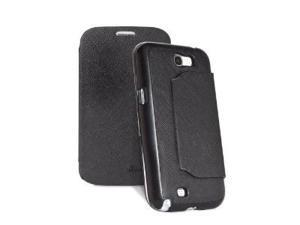 GreatShield SHIFT LX Leather Flip Cover KickStand Case for Samsung Galaxy Note 2 II / N7100 - Black