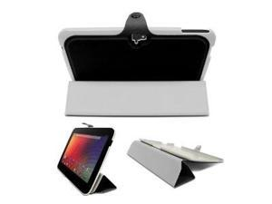 Fosmon OPUS Series Leather Slim Case Folio Cover with Multi Angle Stand for Google Nexus 10 inch Tablet - Black