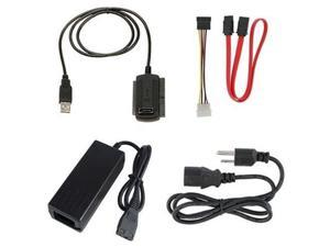"Fosmon USB 2.0 to SATA/IDE Cable Adapter For 2.5 2.5"" IDE  Hard Disk / 3.5 3.5"" IDE Hard Disk / SATA Hard Disk / CD/CD-RW ..."
