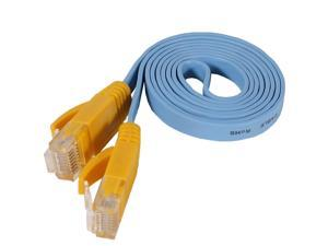 Fosmon Networking Cat5e Flat Tangle Free Ethernet Patch Cable (3 Feet, Blue)