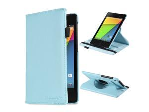 Fosmon GYRE Series Revolving Leather Case with Stylus Slot and Sleep / Wake function for Google Nexus 7 FHD (2nd Generation, ...