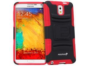 Fosmon Samsung Galaxy Note 3 / Note III [STURDY Series] Heavy Duty KickStand Case Cover with Belt Clip Tough Shell Holster