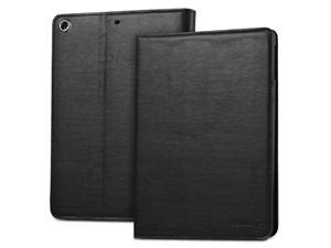 "Fosmon OPUS-CLASSIC Series Leather Folio Stand Case with Sleep / Wake Function for Apple iPad Air 9.7"" Tablet - Black"