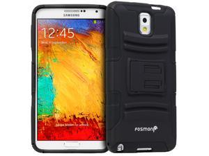 Fosmon Samsung Galaxy Note 3 / Note III [STURDY Series] Heavy Duty KickStand Case Cover with Belt Clip Tough Shell Holster ...