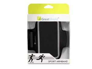 GreatShield Stretchable Sport Fitness Gym Jogging Sweat Resistant Neoprene Armband with Key Storage for Apple iPhone 5/5S/5C ...