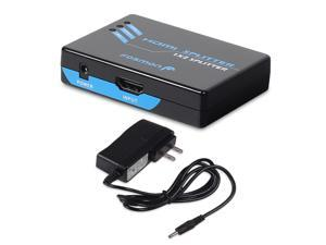 Fosmon HDMI Splitter Amplifier 1 In to 2 Out Dual Display with Power Adapter (Supports 3D)