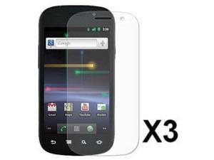 Fosmon 3 Pack Premium Quality Crystal Clear Screen Protector for Google Nexus S