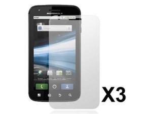 Fosmon 3 Pack Premium Quality Crystal Clear Screen Protector for Motorola Atrix 4G