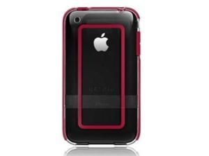 Belkin BodyGuard Halo Case Fits Apple iPhone 3G / 3GS (Clear / Red)
