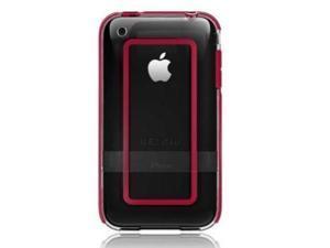 Belkin BodyGuard Halo Case Fits Apple iPhone 3G / 3GS (Clear / Red)