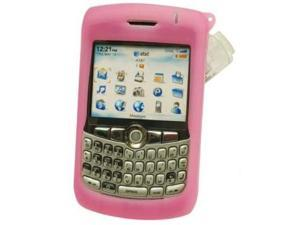 Cellet SCBLK8300PK Jelly Case Silicone Case with Swivel Clip for BlackBerry 8300 Curve - Pink