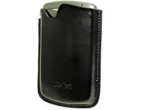Cellet GBLK8300B Signature Leather Case with Spring Clip for BlackBerry 8300 Curve