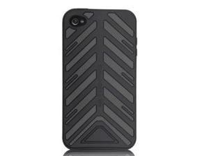 For Case Mate Iphone 4 Torque Silicone Case Gray Black