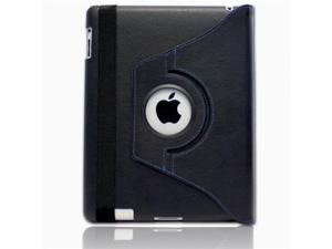 GreatShield Rotating Folio-Style Leather Case for iPad 2