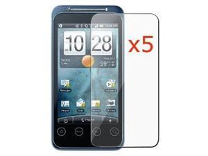 5 Pack of Premium Crystal Clear Screen Protectors for HTC EVO Shift 4G