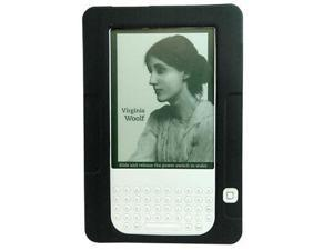 Black Soft Silicone Skin Cover For Amazon Kindle 2