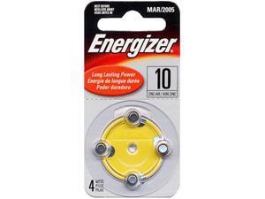 Energizer AC10-4 Zinc Air Hearing Aid Batteries 4pk