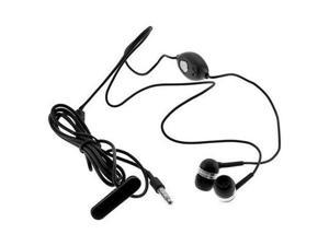 Black Deluxe Stereo Earphone with Mic for LG Ally, HTC Aria, Motorola Droid X