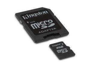 Kingston 2GB Micro SD 2G 2 G/GB Memory Card w/SD Adapter