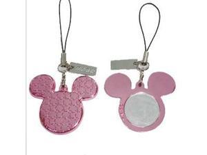 Disney Minnie Mouse Pink Ears with Mirror handheld & Cell Phone Charm Strap