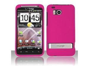 Fosmon Hard Rubber Feel Plastic Case for HTC Thunderbolt 4G - Rose Pink