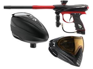 Proto 2013 Reflex Rail Paintball Gun - Black / Red + Dye Rotor + i4 Goggles