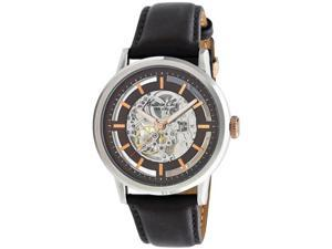 Kenneth Cole KC1718 Automatic Skeleton Two Tone Dial Leather Strap