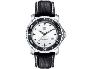 ESQ 07301136 Stainless Steel Submersible 100m Silver Tone Wave Dial