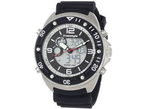 Freestyle FS84946 Precision Diver Black Dial Analog Digital Quartz Black White