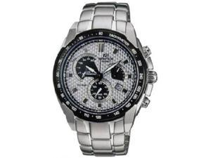 Casio EF521GF-7A Stainless Steel Edifice Patterned Silver Tone Dial
