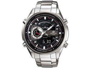 Casio EFA133D-1A Stainless Steel Edifice Chronograph Analog Digital Black Dial