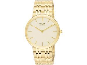 Citizen AR1052-58P Eco-Drive Gold Tone Stiletto White Dial