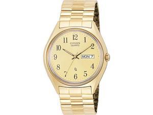 Citizen BF0132-91P Gold Tone Stainless Steel Champagne Dial