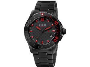 Gucci Classic Sport Black Ion-plated Mens Watch YA126230
