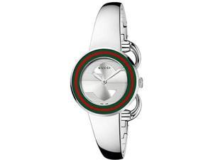 Gucci YA129506 Stainless Steel Dress Bangle Style Band Bezel