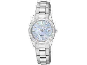 Citizen Regent Eco-Drive Diamonds Mother-of-Pearl Dial Women's Watch #EW1821-55Y