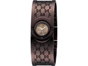 Gucci YA112532 Twirl Quartz Brown Dial Bangle Style