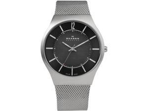 Skagen Steel Mesh Solar Black Dial Men's watch #833XLSSB1