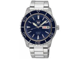 Seiko SNZH53 Stainless Steel Seiko 5 Sports Automatic Blue Dial Bezel