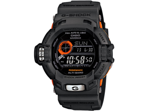 Casio G9200GY-1 Limited Edition Black Orange Plastic Resin G-Shock Riseman Tough Solar