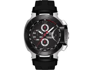 Tissot T0484272705700 T-Race Automatic Chronograph Black Dial Strap