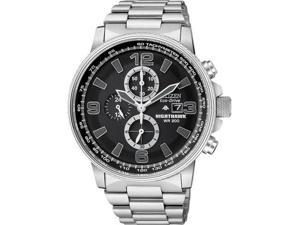 Citizen CA0290-51E Stainless Steel NightHawk Eco-Drive Chronograph Black Dial