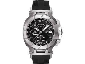 Tissot T0482171705700 T-Race Analog Sapphire Crystal Chronograph Black Dial Black Strap