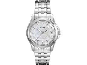Bulova Precisionist 96M121 Women's Mother-of-Pearl Dial Stainless Steel Analog Watch