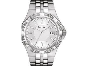 Bulova 96E106 Stainless Steel Diamond Dress Watch