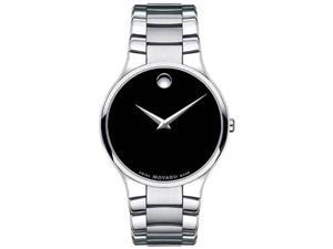 Movado Sero Black Dial Mens Watch 0606382