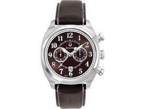 Bulova 96B161 Stainless Steel Case Adventurer Chronograph Quartz Brown Dial Brown Strap
